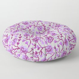 Watercolor Peonies - Orchid Floor Pillow