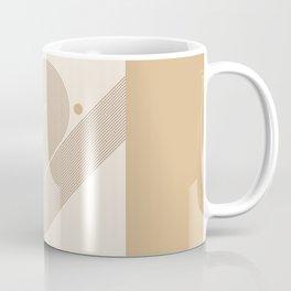 Geometric Lines in Neutral Colors 8 Coffee Mug