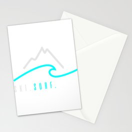 Ski. Surf. Live. Stationery Cards