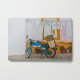 Clothing Line in Portugal - Travel Photography  Metal Print