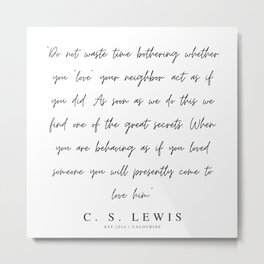2     200320    C.S Lewis Quotes Metal Print