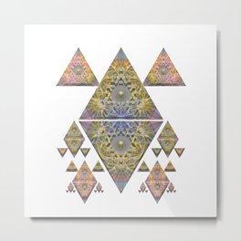 Guidance and Desire Meditation Mandala Metal Print