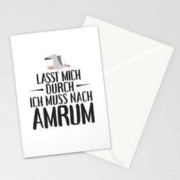 Lasst mich durch ich muss nach Amrum Möwe Stationery Cards