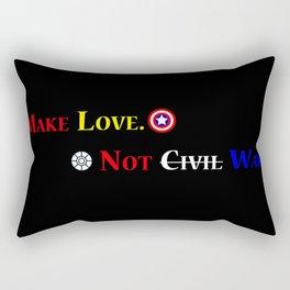 Make Love. Not (Civil) War. Rectangular Pillow