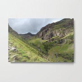 Brooding Glen Coe Peak Scotland Metal Print