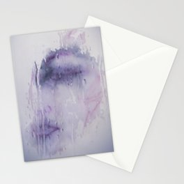 Portrait of a woman. Ethereal, beautiful -  Memories lost like tears in rain Stationery Cards