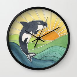 Westcoast Orca Wall Clock