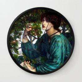 """Dante Gabriel Rossetti """"The Day Dream"""" Wall Clock"""