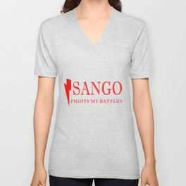 Sango Fights My Battles Unisex V-Neck