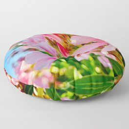 Palm Springs Pink Florals Floor Pillow