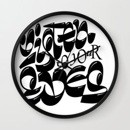 Listen to your eyes Wall Clock