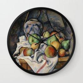 Paul Cézanne, Ginger Jar. For fine art lovers. Wall Clock
