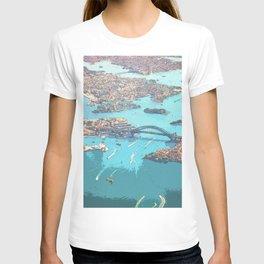Blue Ocean Urban Bird's Eye View T-shirt
