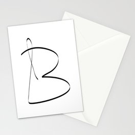 """"""" Singles Collection """" - One Line Minimal Letter B Print Stationery Cards"""