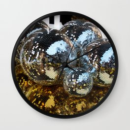 disco sparkle Wall Clock
