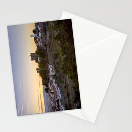 Braganca castle at sunset Stationery Cards