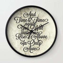 Rise Above (Black) Wall Clock