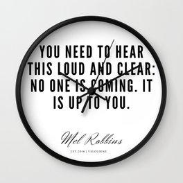26  | Mel Robbins Quotes | 190802 Wall Clock