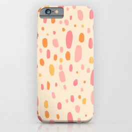 Besotted & Spotted - Warm Colors iPhone Case