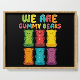 Gummy Bears Chewy Desert Sweets Jelly Serving Tray