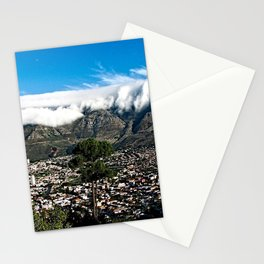 Table Mountain Cape Town Cityscape, South Africa Stationery Cards