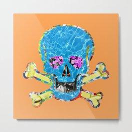 Skull and Pretty Little Bones Metal Print