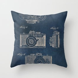 Cazin Camera patent art Throw Pillow