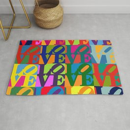 Love Pop Art Rug