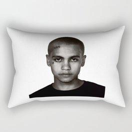 """Dominic Fike - Black and White Tri-blend"" Rectangular Pillow"