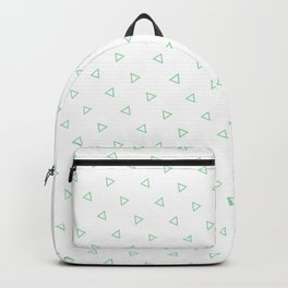 Pastel Green Seamless Triangles Pattern Backpack