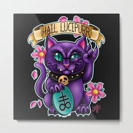 Hail Lucipurr! Metal Print