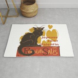 Joyeuse saint Valentin Le Chat Noir Parody Rug