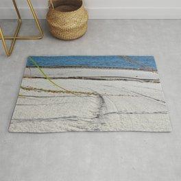 Watercolor Footprints, Grass 01, Janes Island, Maryland Rug