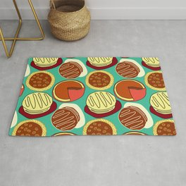 Pie, Blue Green, and Cake Rug