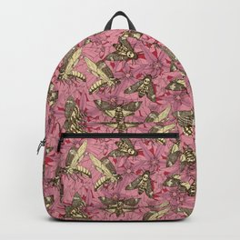 Death's-head hawkmoth rose Backpack