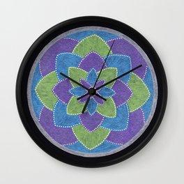 Metallic Petals Wall Clock