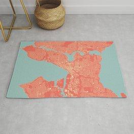 Seattle, Washington City Map, Colorful Rug