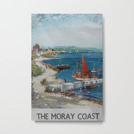 The Moray Coast Vintage Travel Poster Metal Print