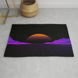 Vaporwave Outrun | Eighties Style Rug
