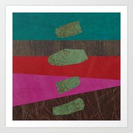 levitating over the leather rainbow Art Print