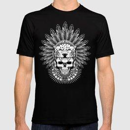 Aztec Jaguar Warrior Skull T-shirt