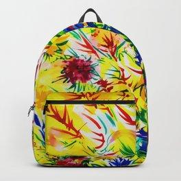 Sunny Summer Yellow Foliage Paint Art Backpack