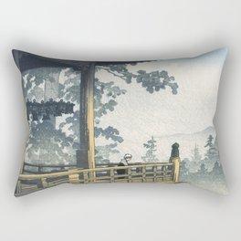 Hasui Kawase, Sunset At Nigatsudo, Nara - Vintage Japanese Woodblock Print Art Rectangular Pillow