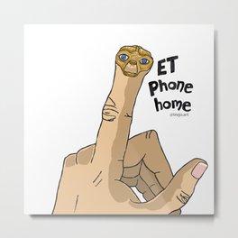 My ET finger Metal Print