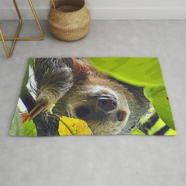 AnimalPaint_Sloth_20171201_by_JAMColors Rug