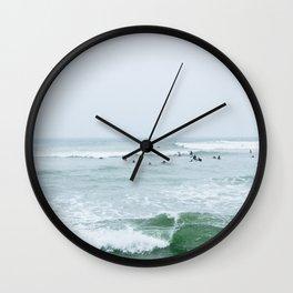 Tiny Surfers Lima, Peru 3 Wall Clock