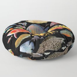 Freshwater tropical fish Floor Pillow