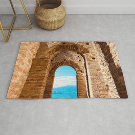 Roman villa, ancient Rome, Sirmione, lake Garda, Grottoes of Catullus Rug