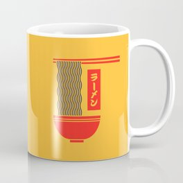 Ramen Japanese Food Noodle Bowl Chopsticks - Yellow Coffee Mug