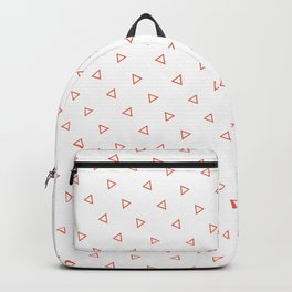 Orange Coral seamless geometric pattern triangles Backpack